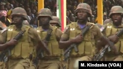 Cameroonian troops march in National Day celebrations in Yaounde, Cameroon, May 20, 2018.