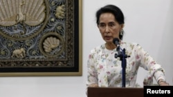 FILE - Myanmar Foreign Minister and de facto leader Aung San Suu Kyi speaks during a news conference in Naypyitaw, Myanmar, May 22, 2016. Aung San Suu Kyi is known to have openly demonstrated irritation with the media.