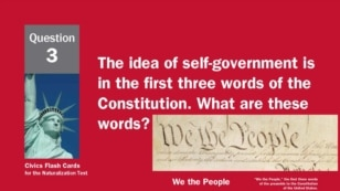 Question 2 - Self-Governance From US Citizenship and Immigration Service's Civics Flash Cards for the Naturalization Test