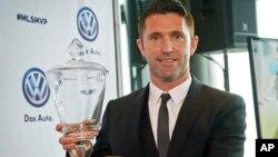 El delantero irlandés del Galaxy de Los Ángeles, Robbie Keane, fue nombrado el MVP de la liga estadounidense de fútbol.