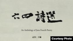 纪念文学作品《六四诗选》封面(孟浪提供)