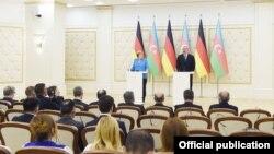 İlham Əliyev və Angela Merkel