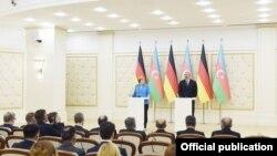 Almaniya kansleri Angela Merkel Bakıya səfəri çərçivəsində prezident İlham Əliyevlə görüşüb,