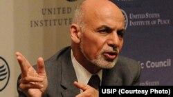 رئیس جمهور افغانستان حین سخنرانی در انستیتوت صلح ایالات متحده