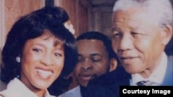 Julia A. Wilson with Nelson Mandela