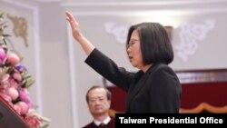 Bà Thái Anh Văn trong lễ nhậm chức hôm 20/5.