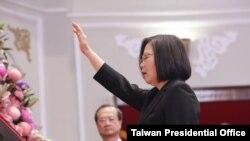 蔡英文2020年5月20日在總統府宣誓就職中華民國第15任總統(照片來源:中華民國總統府)