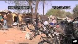 Imagens recolhidas pela TV nigeriana, ilustrando os recentes ataques terroristas.