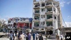 Otel Ambassador dake Mogadishu da aka kaiwa hari ranar Larabar wannan makon