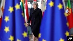 Britanska premijerka Tereza Mej dolazi na evropski samit u Brisel, 14. decembar 2017.