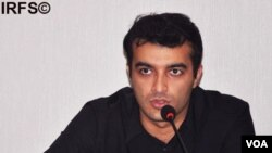 File - Azerbajiani human rights defender Rasul Jafarov.