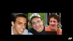 Fotografije ubijenih izraelskih tinejdžera Ejala Jifraha (L) , Gilada Šaara (C) i Naftali Frenkela
