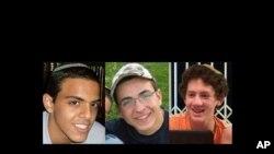 Fotografije trojice izraelskih tinejdžera, Ejala Jifraha, Gilada Šara i Naftalija Frenkela, koji su oteti i ubijeni u Hebronu na Zapadnoj obali 12. juna 2014. Hamas je 22. avgusta zvanično priznao da je njegovo vojno krilo izvršilo otmicu i ubistvo.