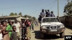 La police zambienne à Chawama théâtre de violences xénophobes le lundi 19 avril.