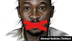 Le dessin qu'utilise Ahmad Salkida pour son profil sur Twitter, le 7 septembre 2016.