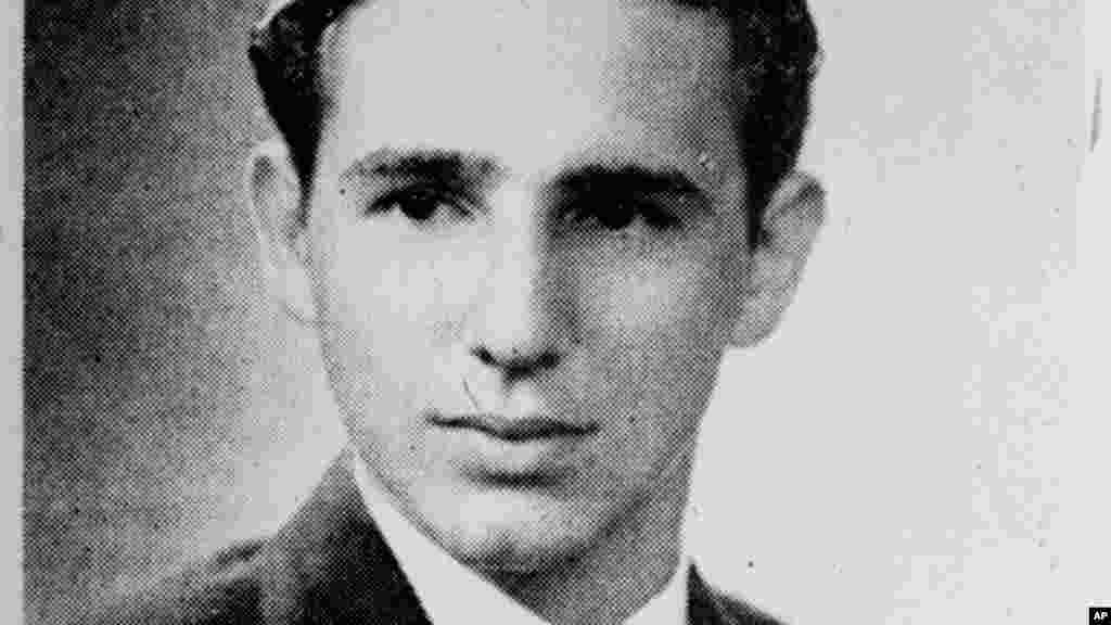 Un joven Fidel Castro, en 1945, antes de hacer historia.