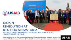 USAID announces an additional $20 million toward dioxin remediation at the Bien Hoa Airbase Area. November 2020.