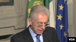 Mario Monti mengumumkan kabinetnya yang terdiri dari 16 teknokrat dan tidak ada satu politisi pun (16/11).