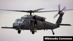 미국 공군이 수색 및 구조용으로 사용하는 전투기 HH-60 페이브 호크 헬리콥터. (자료사진)