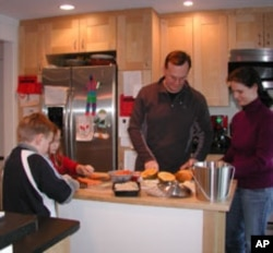 The Stokes are also teaching energy-saving habits to their children, 9-year-old Ryker and 8-year-old Lee.