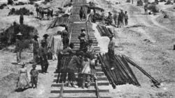 Chinese Workers Help to Build America's Transcontinental Railroad