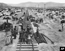 Chinese laborers built the transcontinental railroad on May 10, 1868.