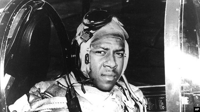 Pilot Jesse Brown is seen in this undated file photo from around 1950 provided by the US Navy.