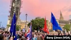 倫敦民眾8月28日英國脫歐示威。