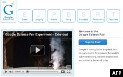 Web site: Google Science Fair / Screen shot