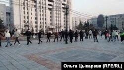 Skup podrške Navalnom u Habarovsku, Rusija.