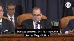 Jerry Nadler durante audiencia de juicio político a Trump