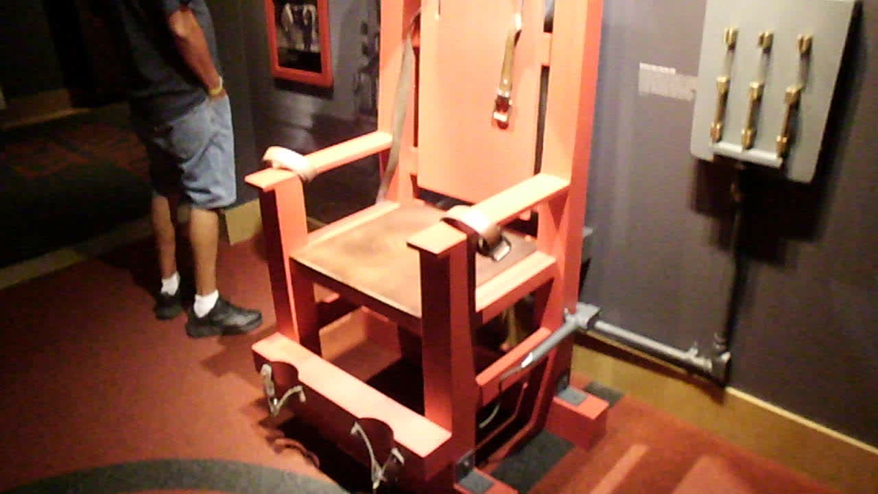 Electric chair at Mob Museum