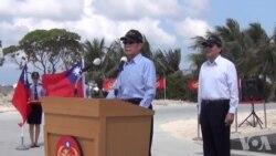 太平岛码头及灯塔启用典礼行政院海岸巡防署长致词(视频来源:台湾外交部)
