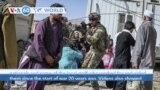 VOA60 World- At Kabul's international airport Monday, thousands of Afghans sought a way out