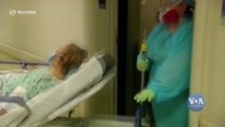 Рекордна кількість людей у США - понад 83 тисячі - перебуває у лікарнях через ускладнення пов'язані з COVID-19. Відео