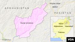 Map of Kunar province, Afghanistan