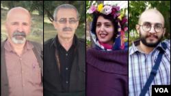 از راست: هیراد پیربداقی، عسل محمدی، محمود صالحی و عثمان اسماعیلی