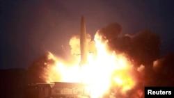 Snimak lansiranja sevenokorejske rakete