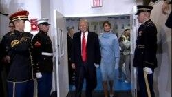 President Trump Melania Trump Entrance End of Parade