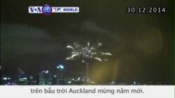 Pháo hoa bừng sáng trên bầu trời Auckland mừng năm mới (VOA60)