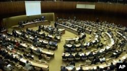 Vista geral da reunião do Conselho de Direitos Humanos da ONU