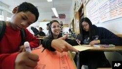 A middle school in Seattle, Washington