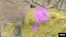 Map of Jawzjan province, Afghanistan