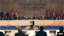 Signing of Peace Accord on October 23 1991, file photo.