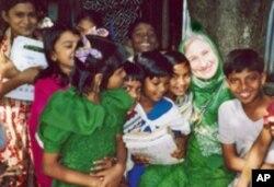 Maryam Kabeer Faye visiting Bangladesh in 2002.