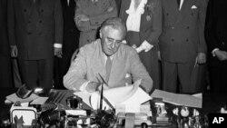 Franklin D. Roosevelt, Washington, le 22 juin 1944.