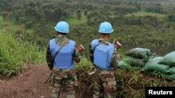U.N. peacekeepers at Kibati Three Towers, 5 km (3 miles) north of the North Kivu provincial capital Goma, Oct. 6, 2013.