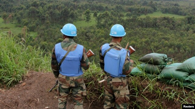 U.N. peacekeepers at Kibati Three Towers, 5 km (3 miles) north of the North Kivu provincial capital Goma, Oct. 6, 2013.