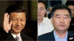 中国国家副主席习近平(左)和广东省委书记汪洋