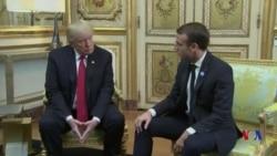 特朗普發推批評馬克龍後在巴黎舉行會談